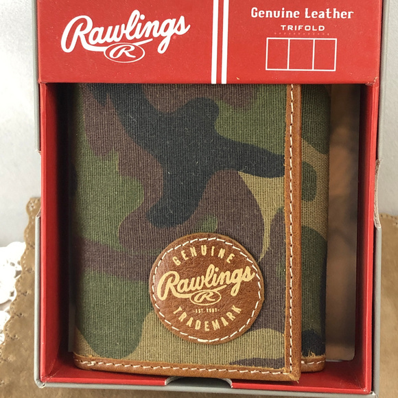 Rawlings Other - Rawlings Camo Tri-Fold Wallet Canvas and Leather